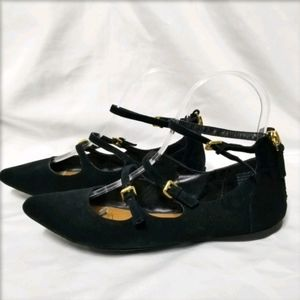 Crown Vintage Bebe Leather Strappy Flats